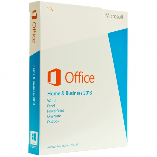 Microsoft Office 2016 Home & Business OEM Product Key Card